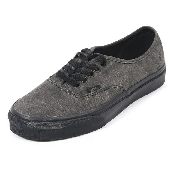 Vans Authentic Washed (Black Black) size 4 men 13f48dc33